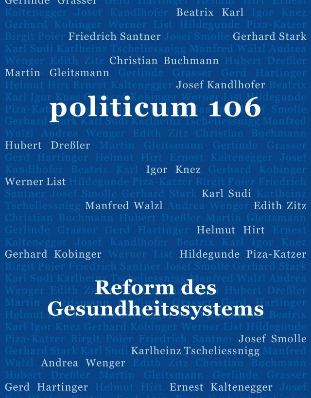 nr. 106: Reform des Gesundheitssystems