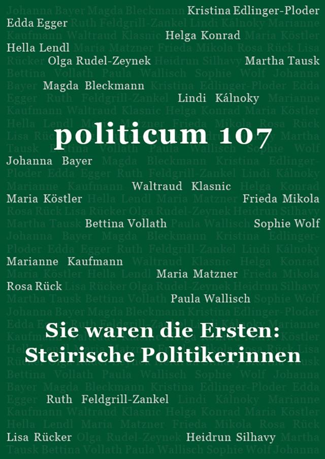 Nr 107 Sie Waren Die Ersten Steirische Politikerinnen Politicum